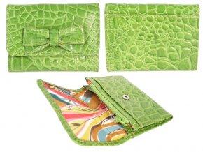 Kožená peňaženka - zelená