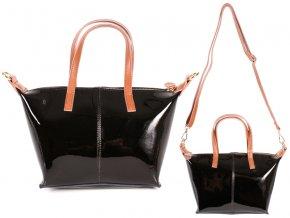 Kožená kabelka Sienna Rose - čierna