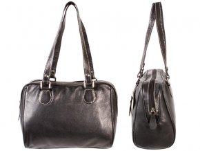 Kožená kabelka RL - čierna
