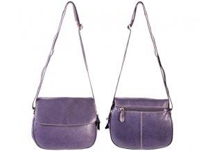 Kožená kabelka RL - fialová