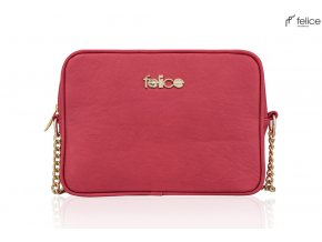 eng pl Leather crossbody Felice Gold Florence 17307 1