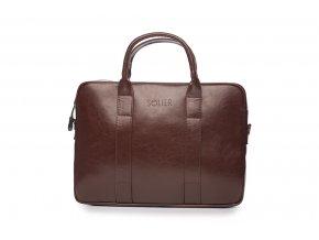 eng pl Maroon leather shoulder laptop bag EDYNBURG 16825 2