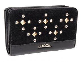 Peňaženka DOCA 64784 - čierna