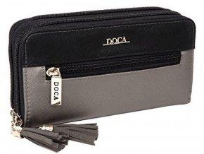 Peňaženka DOCA 64836 - čierna