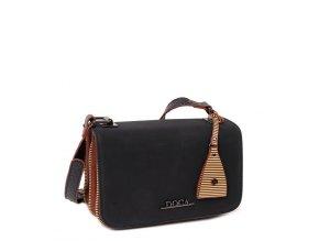 Crossbody kabelka DOCA 12728 - čierna