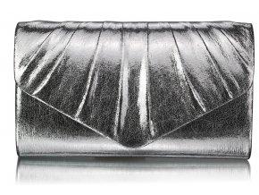 Spoločenská kabelka Metallic - strieborná