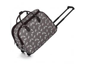 Cestovná taška horse sivá LS00309A grey 2 kabelky.sk