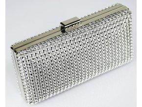 Spoločenská kabelka Diamante - strieborná