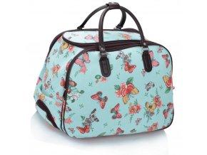 Cestovná taška Butterfly II. - modrá