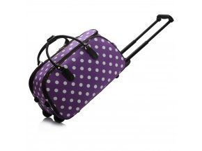 Cestovná taška dots fialová LS00308D 1 kabelky.sk