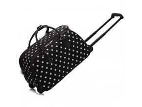 Cestovná taška dots čierna AGT00308D 1 kabelky.sk