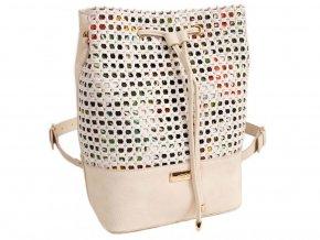 D8mska kabelka a ruksak 2v1 DOCA 13197 krémová