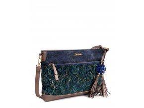 Dámska kabelka DOCA 13313 - modrá
