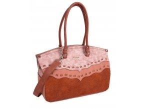 Dámska kabelka DOCA 13286 - ružová
