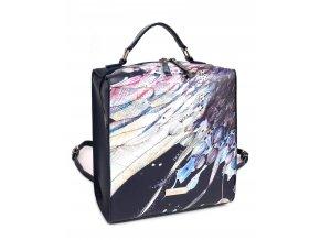 Dámska kabelka a ruksak 2v1 DOCA 13316 - modrý