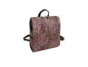 a09144408c Dámsky batoh DOCA 13867 hnedý ružový 1 kabelky.sk