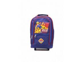 Detský ruksak a kufrík Požiarnik Sam - fialový