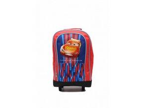 Detský ruksak a kufrík Bleskový McQueen - červený
