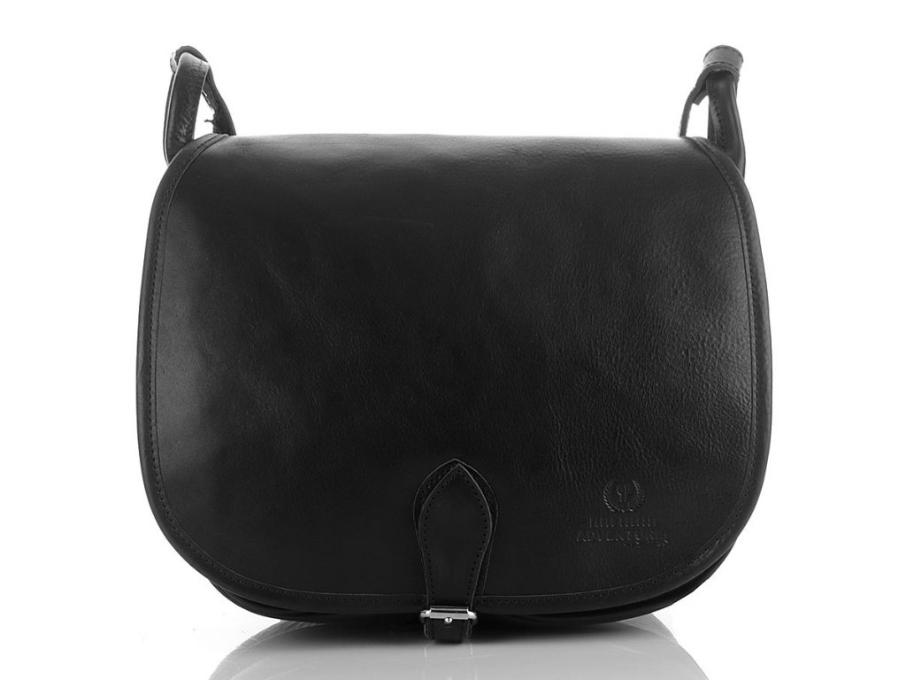 Dámská lovecká kabelka kožená černá PERUZZI ADVENTURE; černá