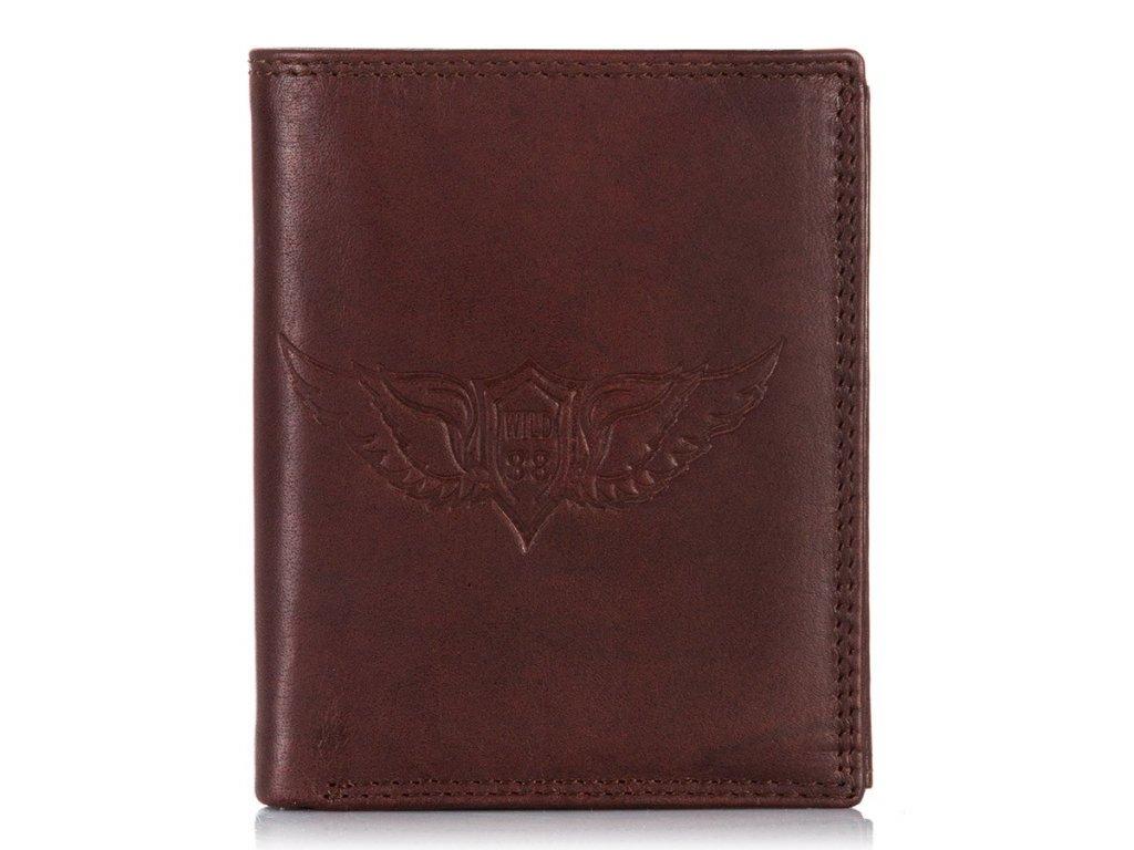 Pánská kožená peněženka Tillberg Wild's; hnědá
