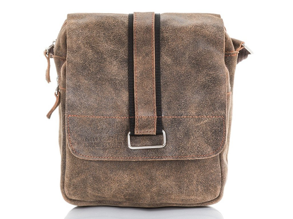 Pánská taška přes rameno Paolo Peruzzi Adveture; světle hnědá