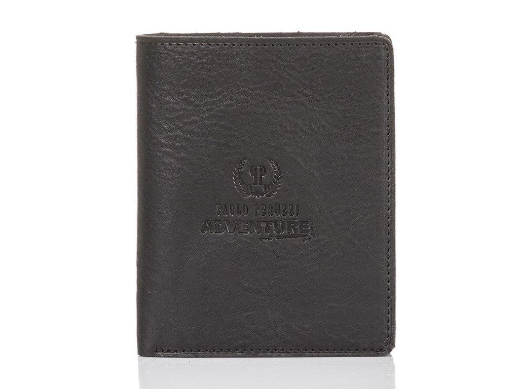 Supertenká pánská kožená peněženka PAOLO PERUZZI ADVENTURE