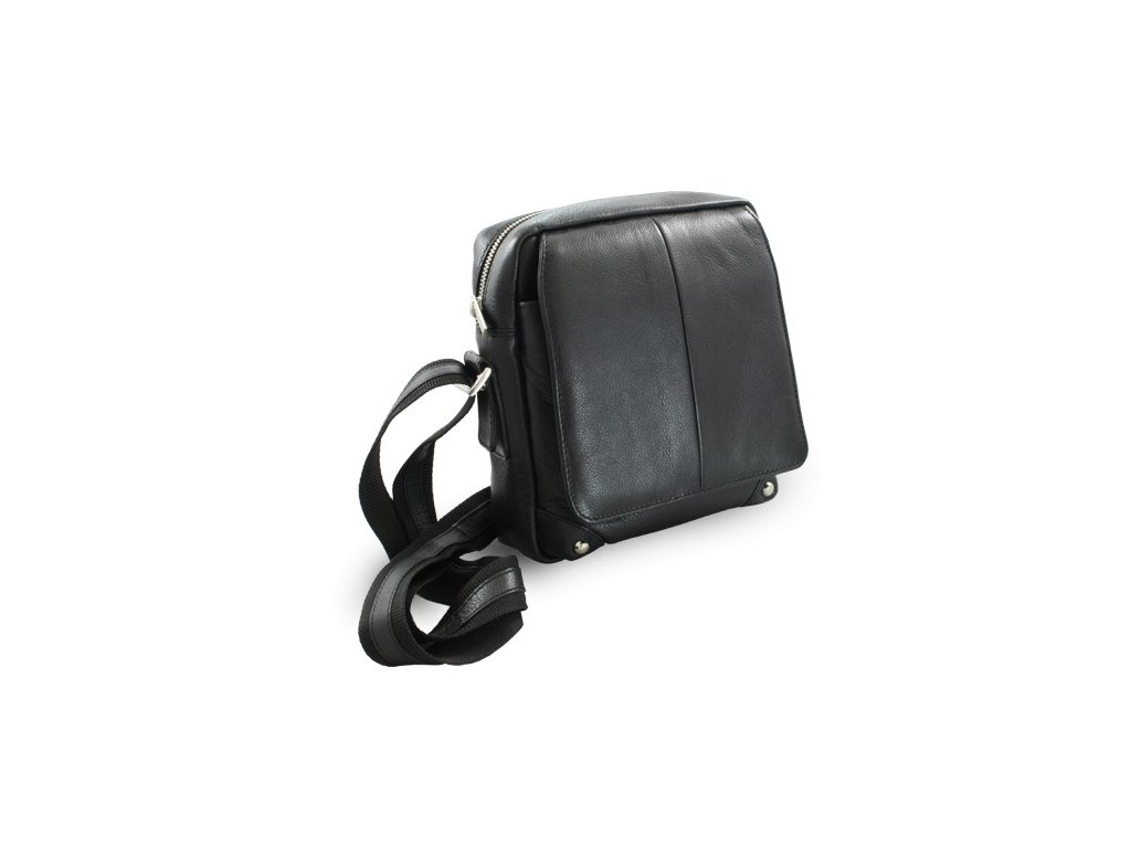 Kožená pánská taška Arwel černá vycházková