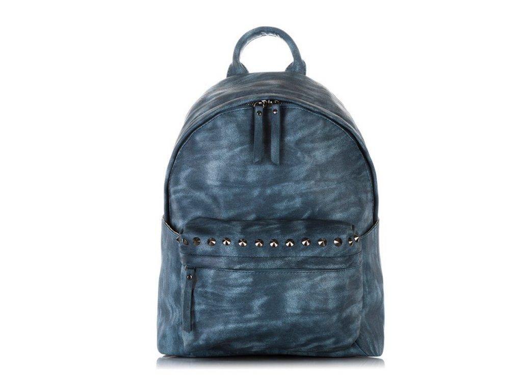 Dámský batoh se cvoky; modrá