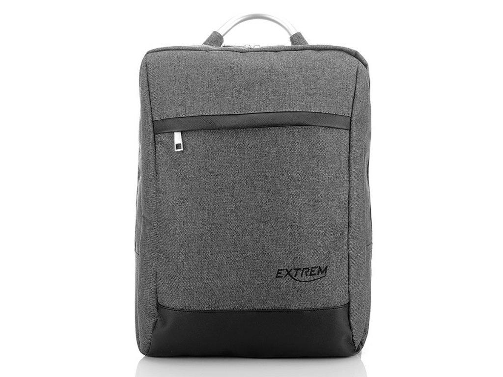 Unisex batoh na notebook textilní; šedá