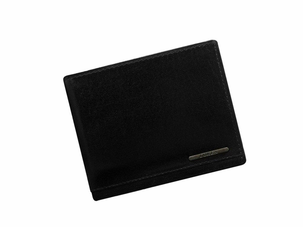Pánská kožená peněženka Loren na široko černá