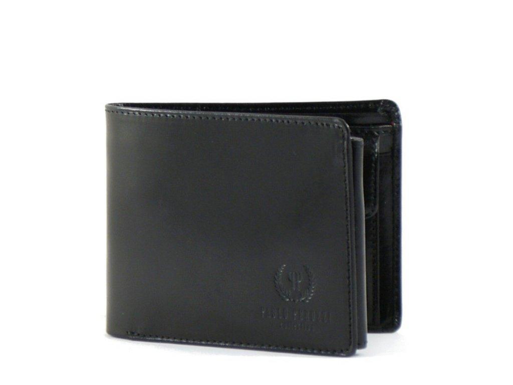 Kožená pánská peněženka Paolo Peruzzi; černá