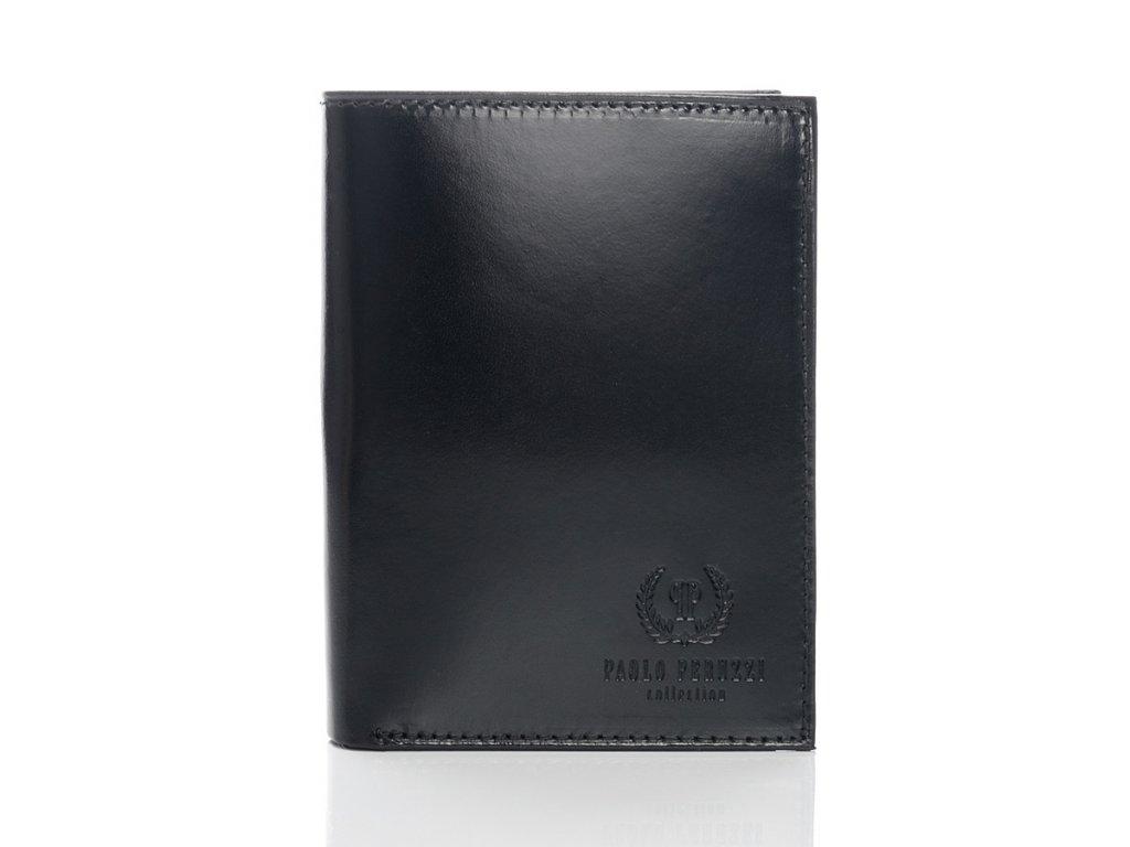 Exkluzivní kožená pánská peněženka Peruzzi; černá