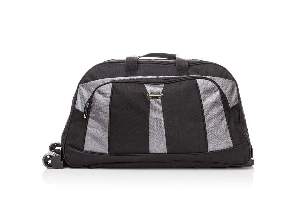 Velká cestovní taška na kolečkách Bag Street; černá