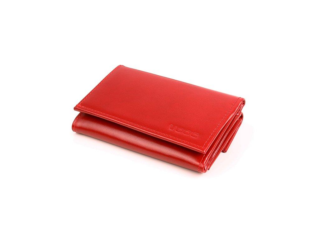 Malá kožená peněženka pro ženy VOOC; červená