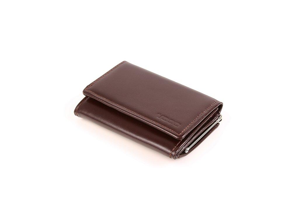 Klasická dámská kožená peněženka VOOC; hnědá