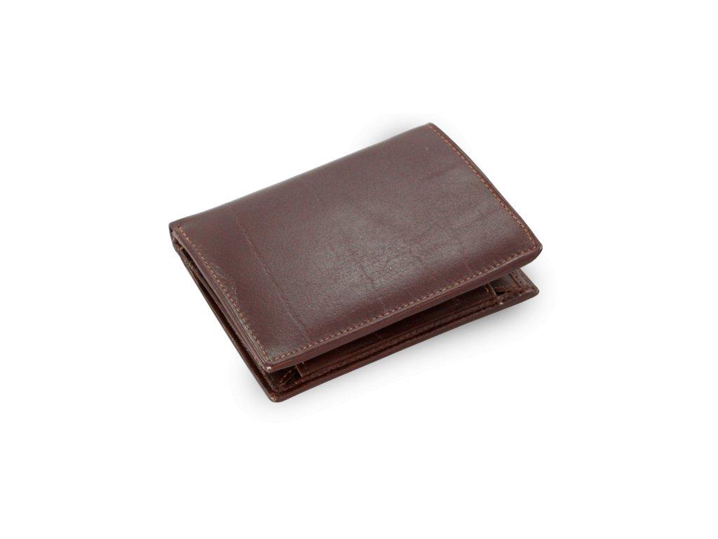 Pánská kožená peněženka a dokladovka tmavě hnědá