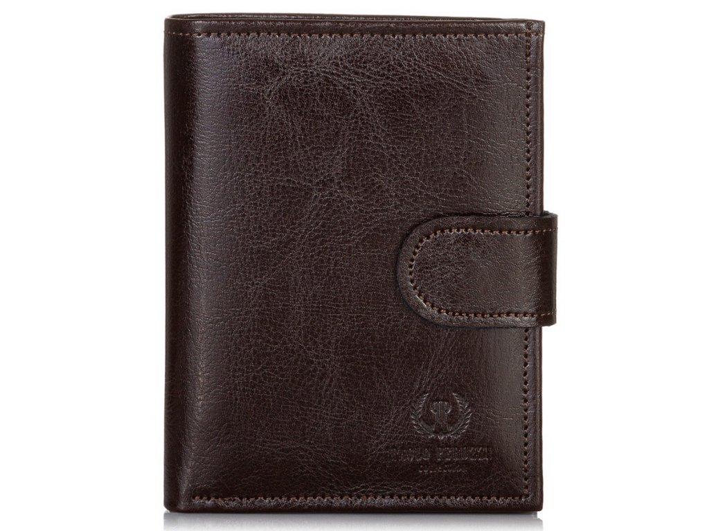 Pánská kožená peněženka Paolo Peruzzi; hnědá