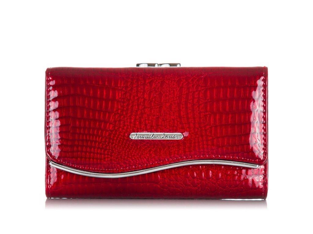 Elegantní dámská peněženka z lakované kůže; červená