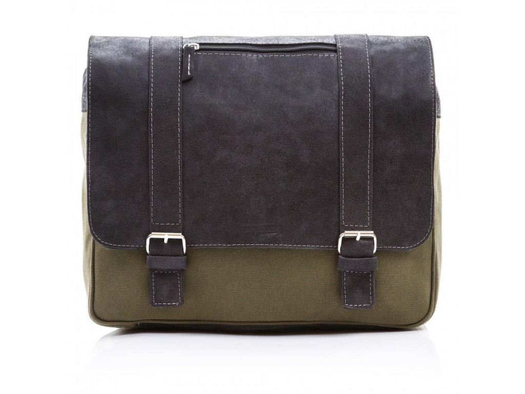 Pánská kožená taška Paolo Peruzzi Adventure; černá