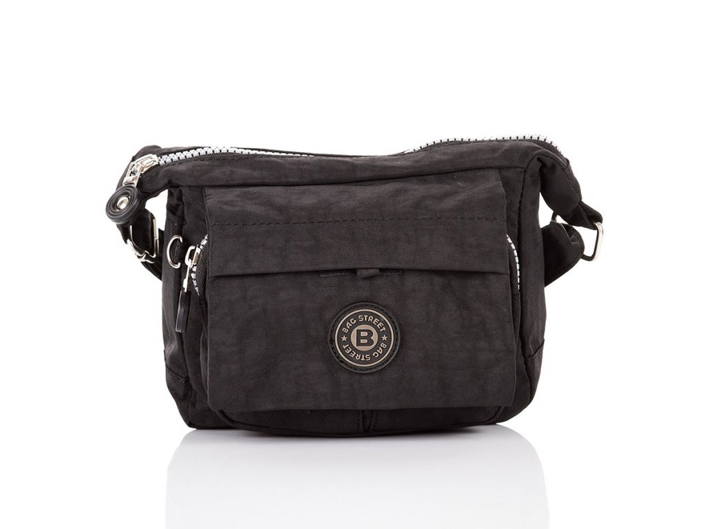 Lehká taška přes rameno BAG STREET; černá