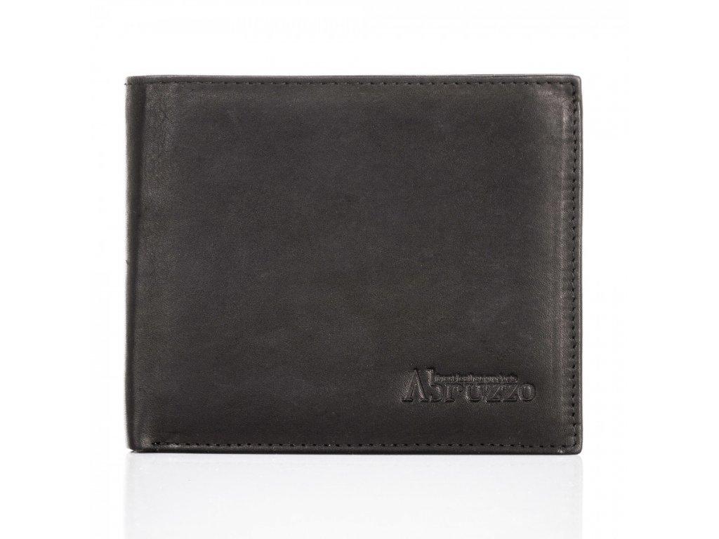 Pánská kožená peněženka Abruzzo; černá