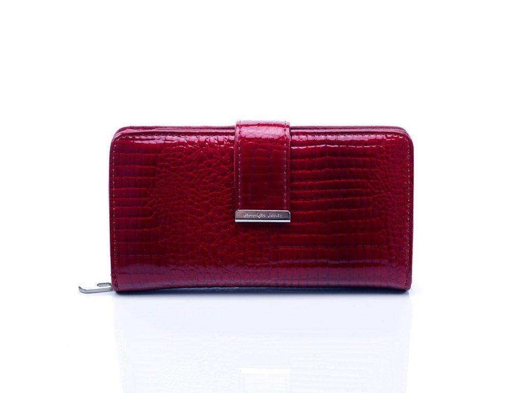 Dámská peněženka z lakované kůže; červená