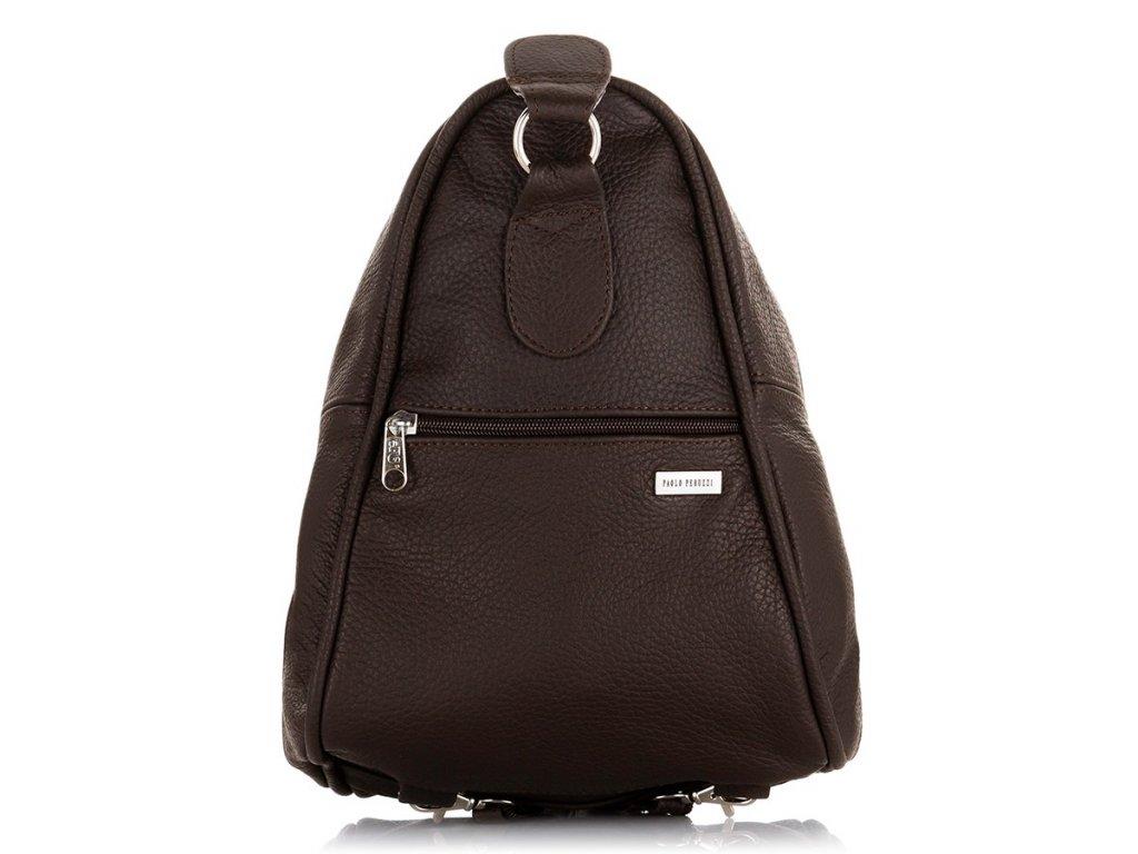 Dámský batoh i taška kožená PAOLO PERUZZI; hnědá