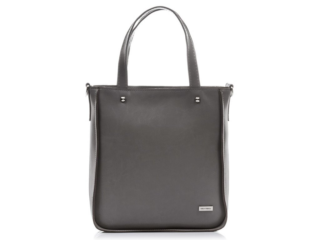 Designová kožená taška PAOLO PERUZZI; šedá