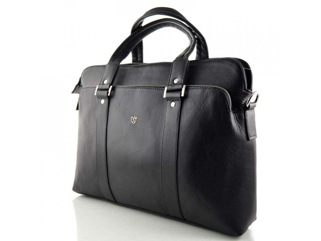 manažerská kožená taška arwel černáII