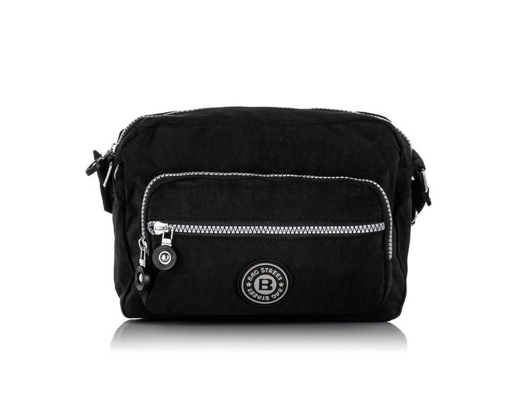 Crossbody dámská městská taška; černá