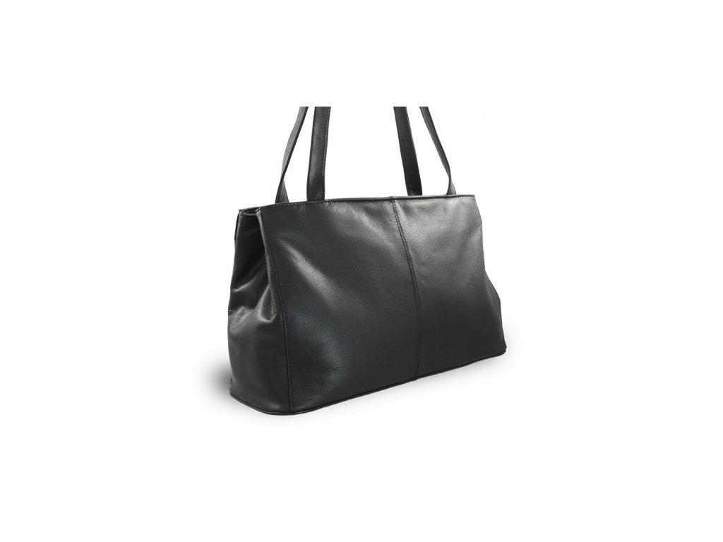 Kožená dámská kabelka Arwel černá dvouzipová větší