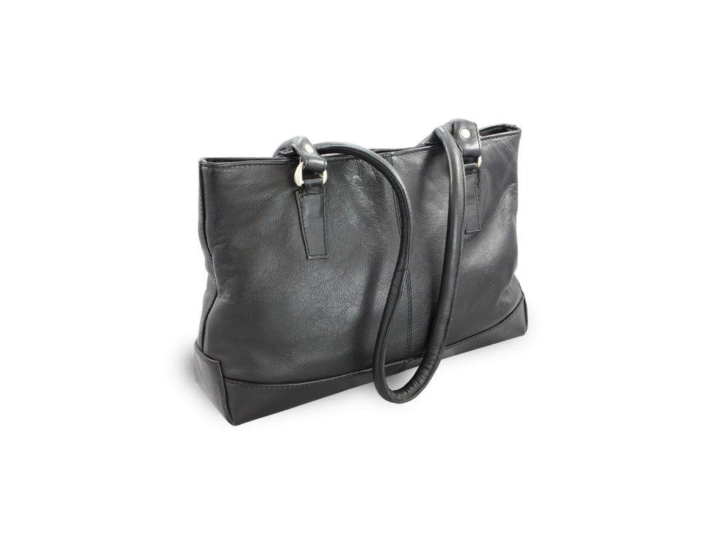 Kožená dámská kabelka Arwel se dvěma popruhy