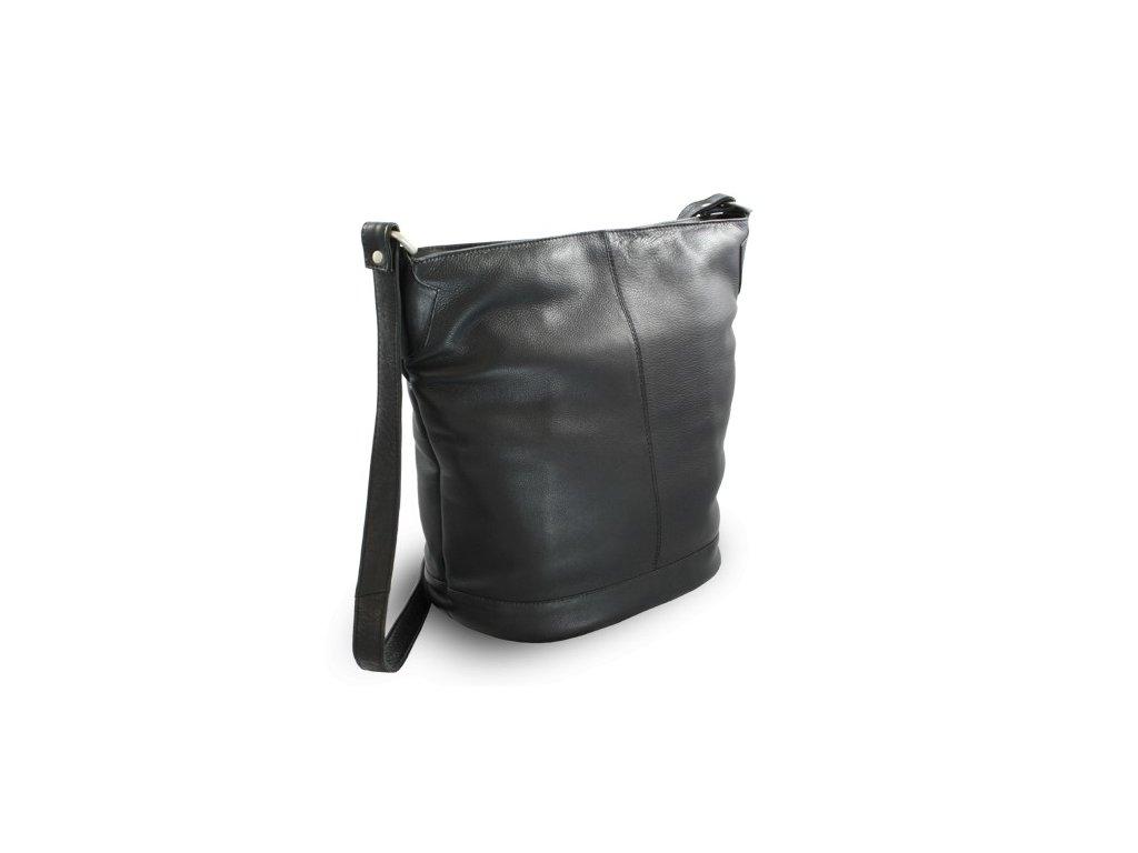 Kožená  dámská kabelka Arwel přes rameno