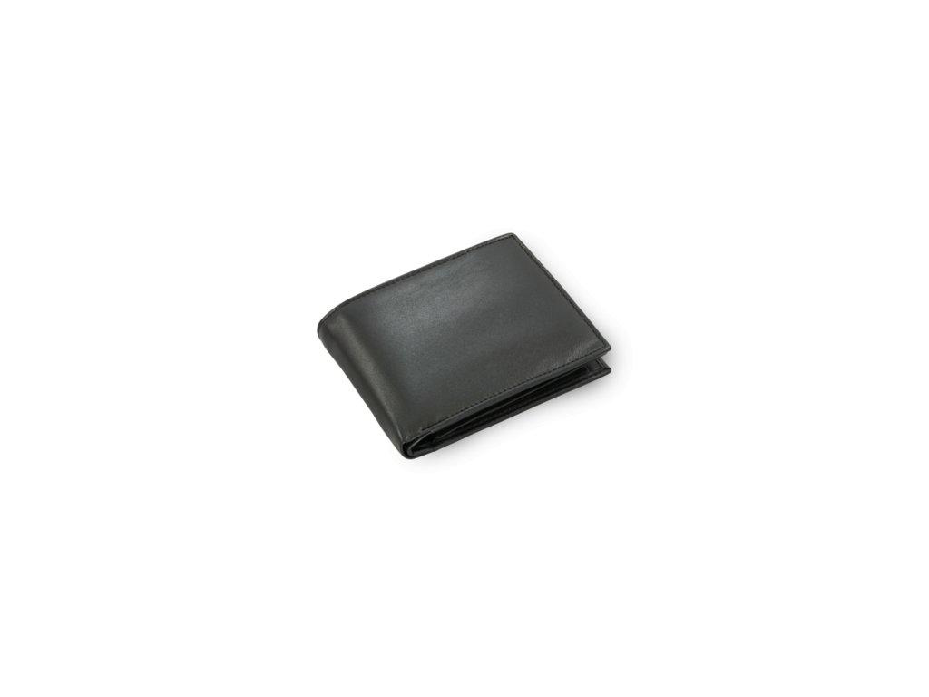 Pánská kožená peněženka černá s vnitřní zápinkou